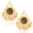 Sukkhi Classic Gold Plated Lotus Meenakari Chandelier Earrings For Women