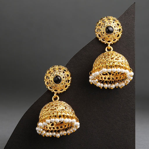 Sukkhi Sleek Gold Plated Pearl Jhumki Earring for Women