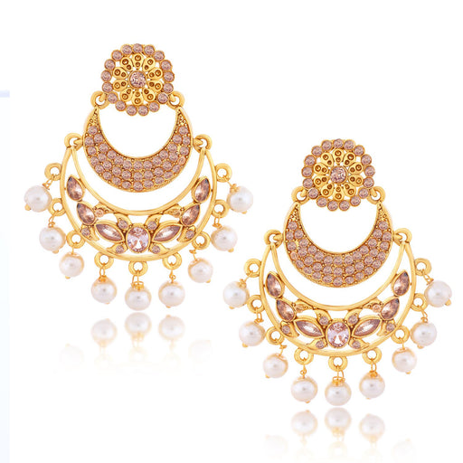 Sukkhi Ravishing Chand Bali Gold Plated Earring for women