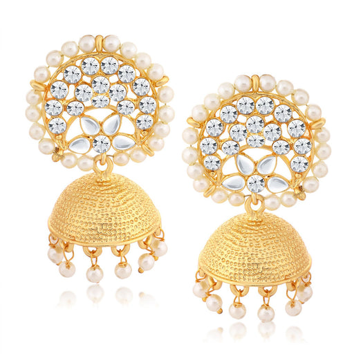 Sukkhi Beguiling Gold Plated Round Jhumki Earring for women