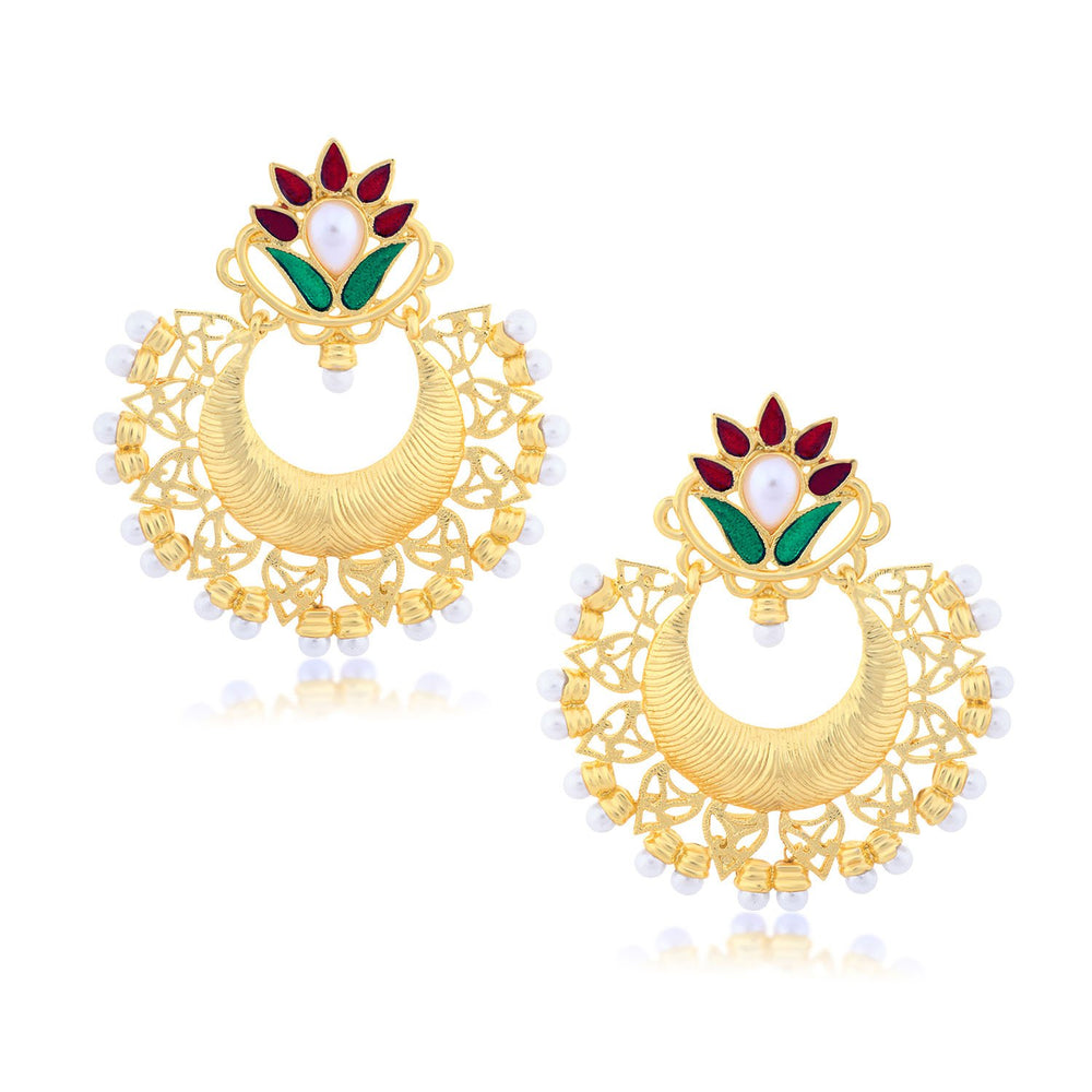 Sukkhi Excellent Chand Bali Gold Plated Earring for women
