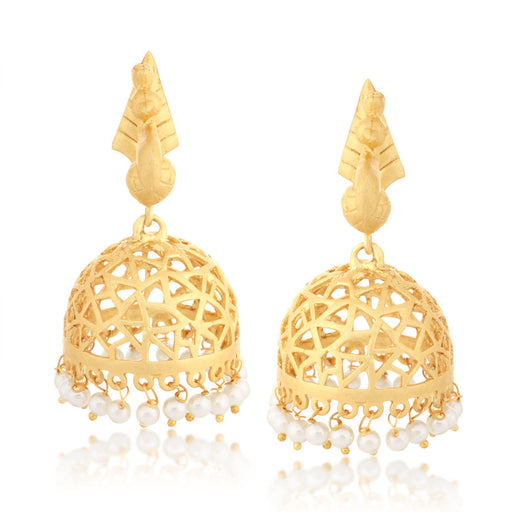 Sukkhi Pleasing Filigree Jhumki Gold Plated Earring for women