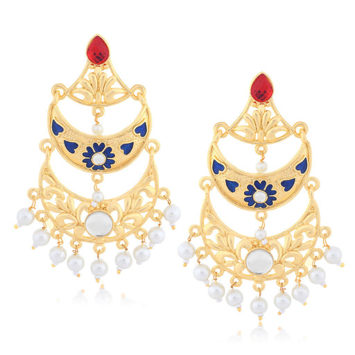 Sukkhi Astonish Chand Bali Gold Plated Earring for women