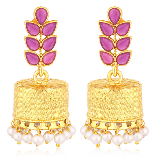 Sukkhi Exotic Gold Plated Pearl Jhumki Earrings For Women