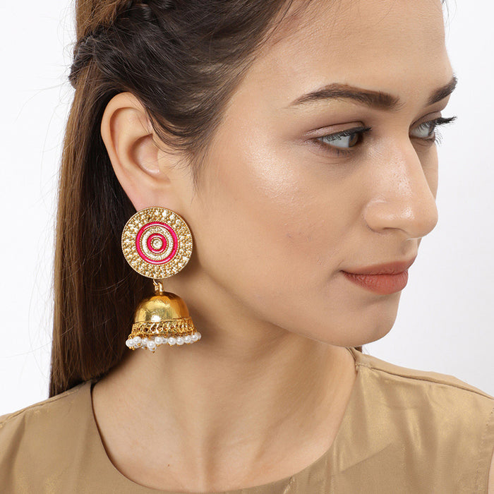 Sukkhi Pretty Gold Plated Pearl Jhumki Earring for Women
