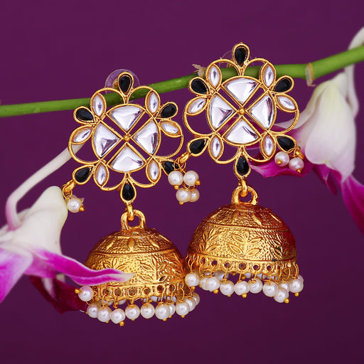 Sukkhi Sparkling Gold Plated Pearl Jhumki Earring For Women