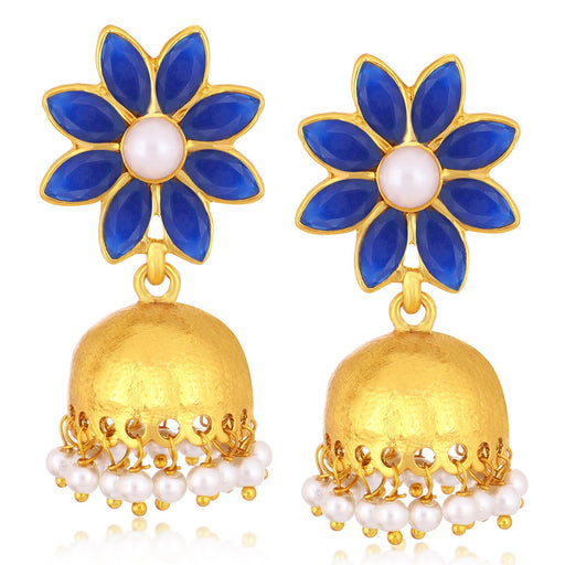 Sukkhi Fabulous Gold Plated Pearl Jhumki Earrings For Women