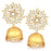 Sukkhi Glittery Gold Plated Kundan Jhumki Earrings For Women