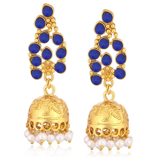 Sukkhi Amazing Gold Plated Pearl Chandelier Jhumki Earrings For Women