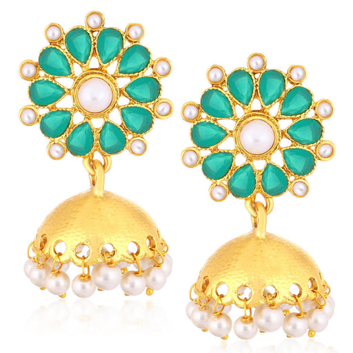 Sukkhi Precious Gold Plated Pearl Jhumki Earrings For Women