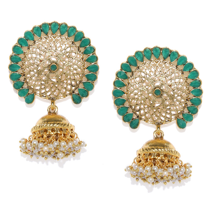 Sukkhi Shimmering Gold Plated Jhumki Earring for Women