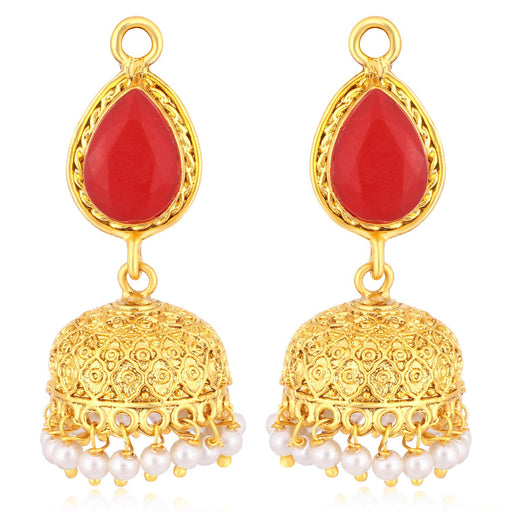 Sukkhi Lavish Gold Plated Pearl Dangler Jhumki Earrings For Women