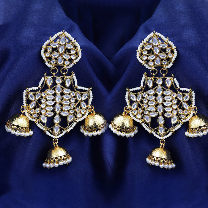 Sukkhi Adorable Gold Plated Jhumki Earring for Women
