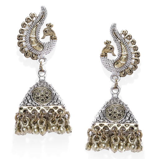 Sukkhi Classic Oxidised Plated Peacock Jhumki Earring for Women