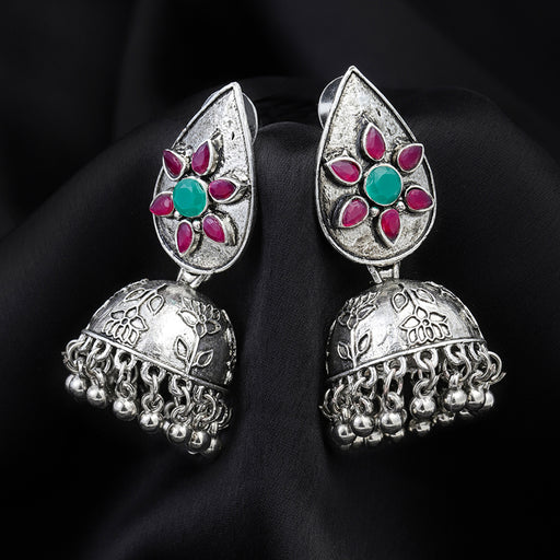 Sukkhi Elegant Oxidised Plated Floral Jhumki Earring for Women