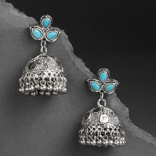 Sukkhi Glamorous Oxidised Plated Jhumki Earring for Women
