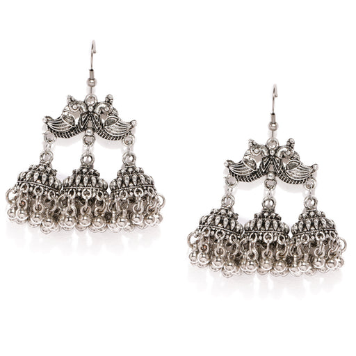 Sukkhi Classic Oxidised Plated Jhumki Earring for Women