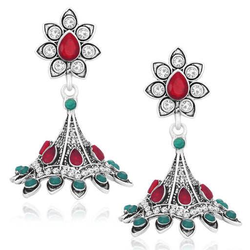 Sukkhi Designer Oxidised Plated Dangler Jhumki Earrings For Women