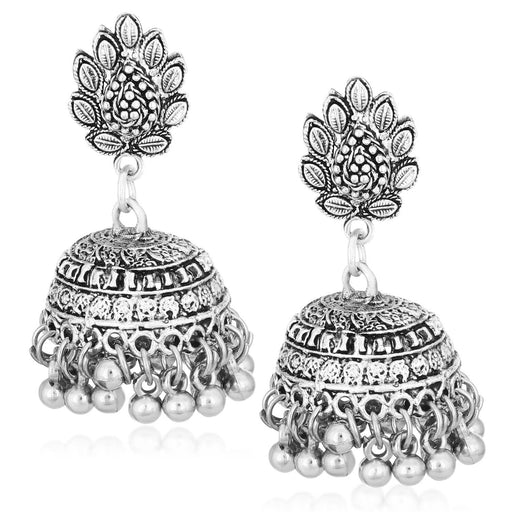 Sukkhi Classic Oxidised Plated Dangler Jhumki Earrings For Women