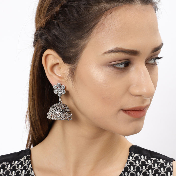 Sukkhi Dazzling Oxidised Plated Jhumki Earring for Women