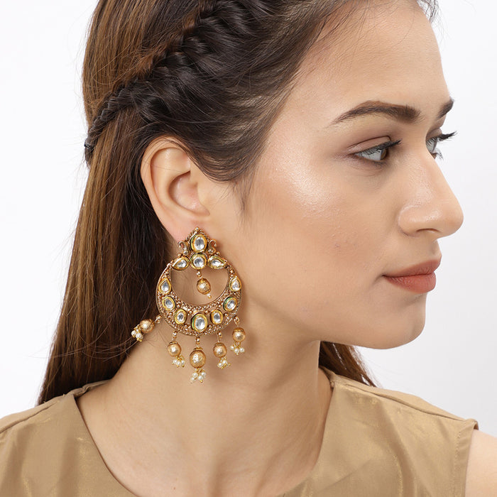 Sukkhi Elegant Gold Plated Chand Bali Earring for Women