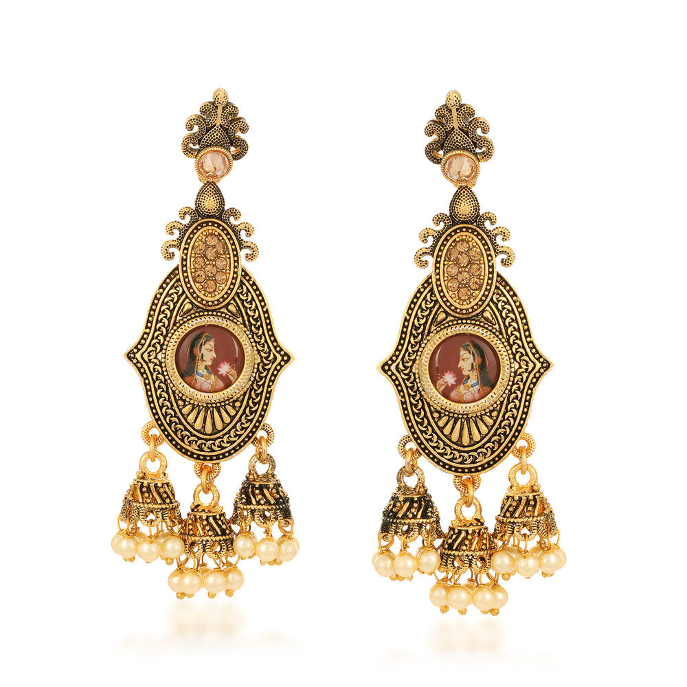 Sukkhi Bollywood Inspired LCT Gold Plated Earring for Women