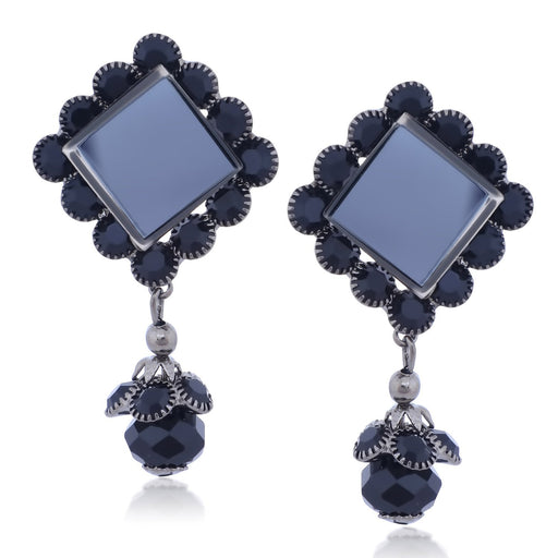 Sukkhi Delicate Oxidised Plated Diamond Shaped Jhumki Earrings For Women
