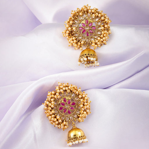 Sukkhi Fascinating Gold Plated Jhumki Earring for Women