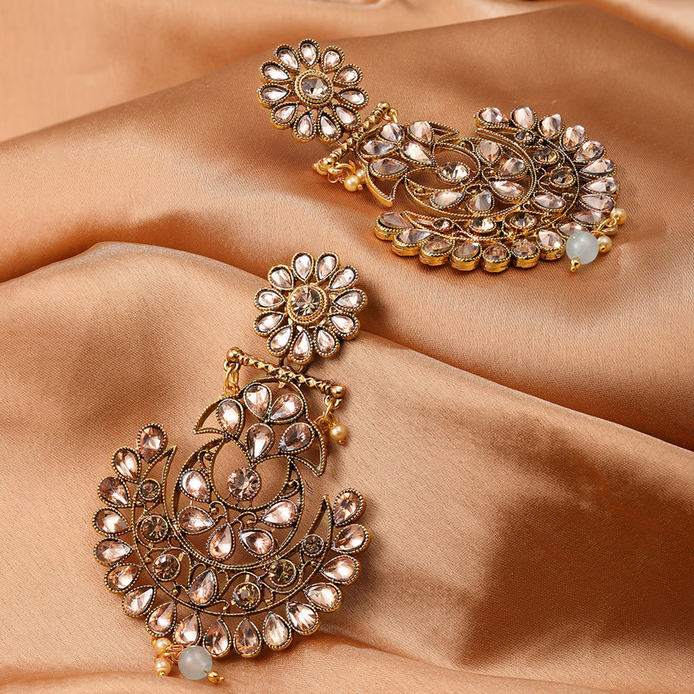 Sukkhi Excellent Gold Plated Chand Bali Earring for Women