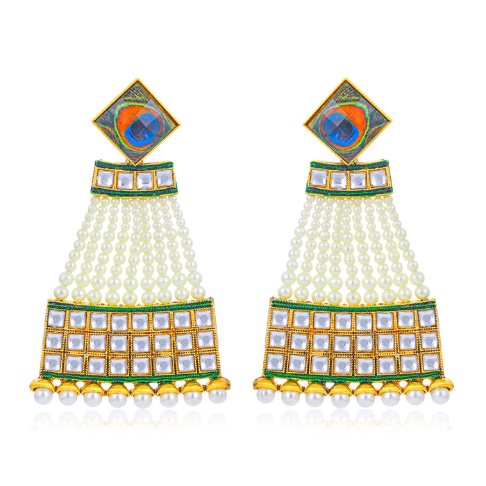 Sukkhi Equisite Kundan String Gold Plated Earring for Women