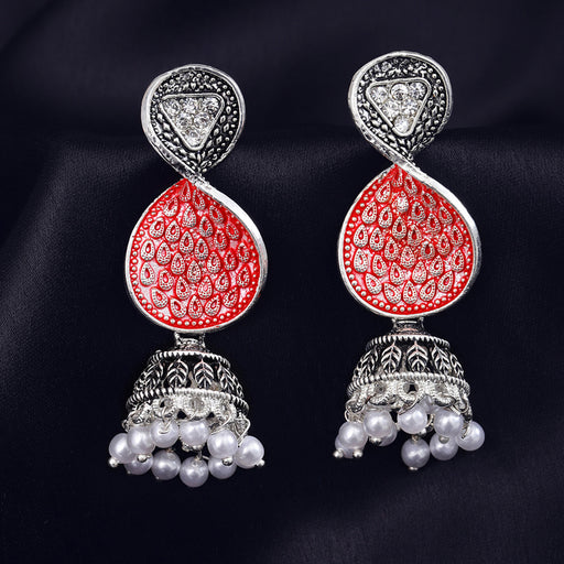 Sukkhi Alluring Oxidised Plated Mint Collection Jhumki Earring for Women