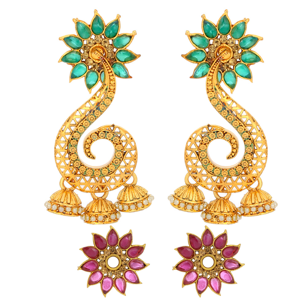 Sukkhi Tibale Floral Changeable Gold Plated Earring for Women