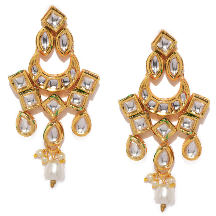Sukkhi Attractive Gold Plated Chand Bali Earring for Women