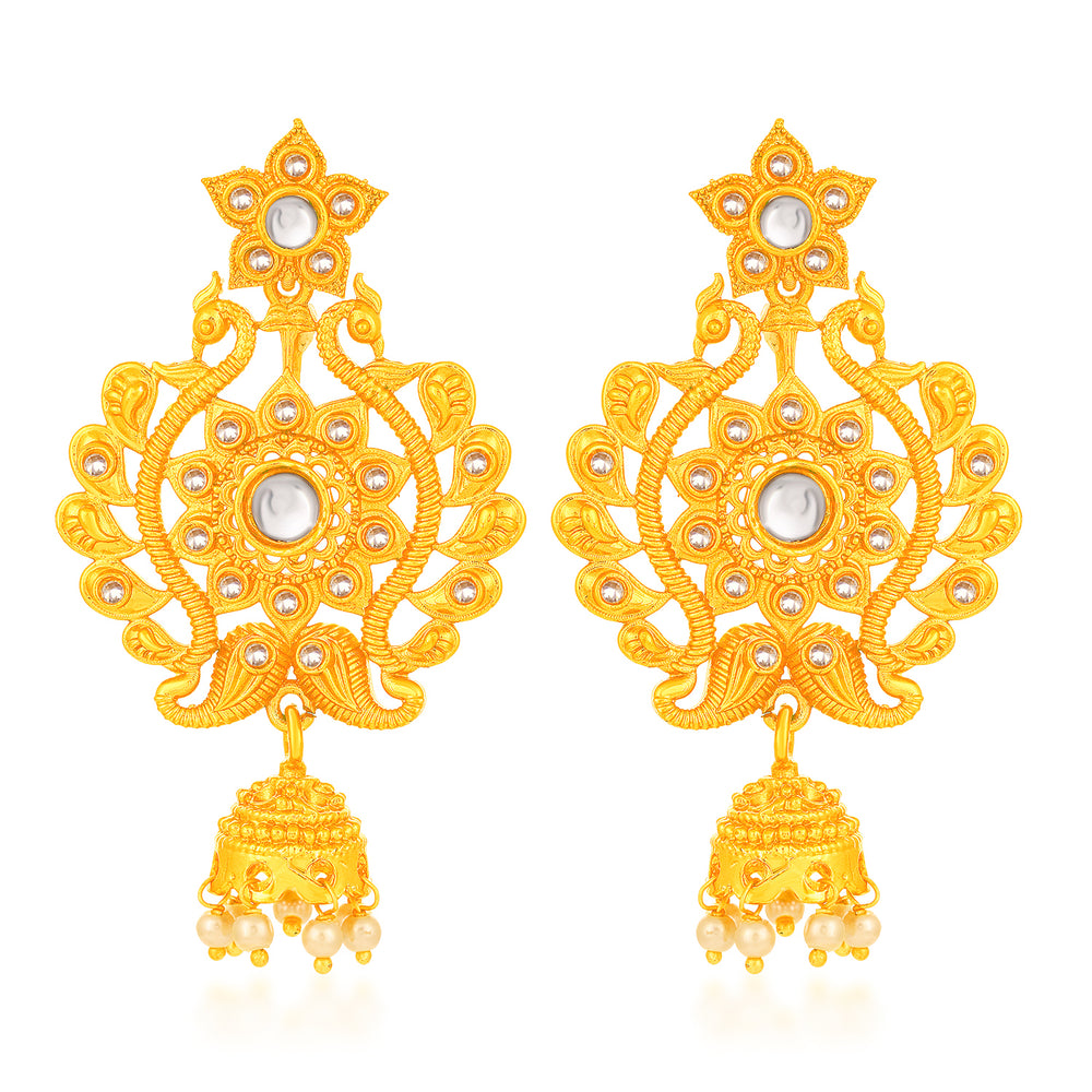 Sukkhi Artistically Peacock Gold Plated Earring for Women
