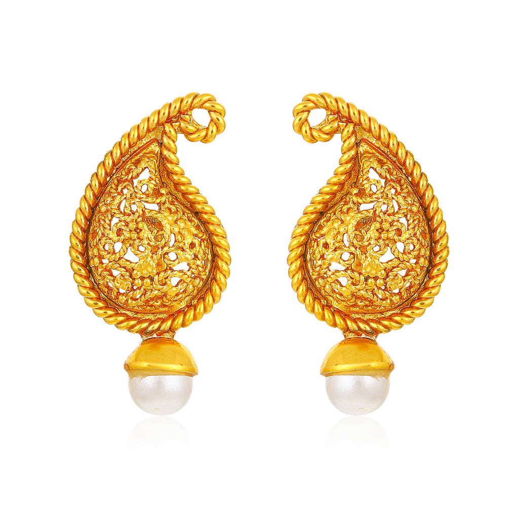 Sukkhi Sober Pearl Gold Plated Earring for Women
