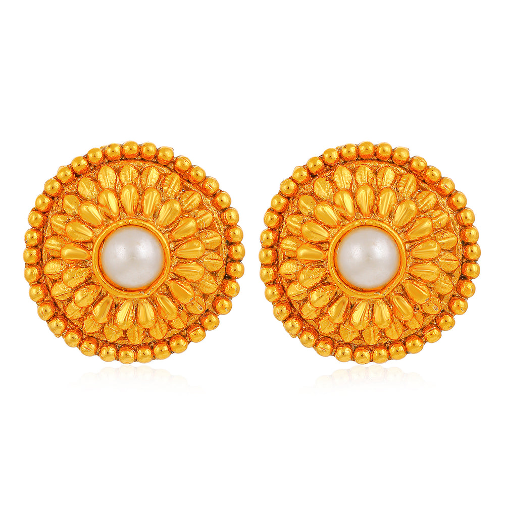 Sukkhi Adorable Pearl Gold Plated Stud for Women Stud Stud for women