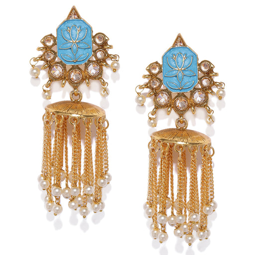 Sukkhi Mint Lotus Jhumki Earring for Women