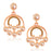 Sukkhi Graceful Rose Gold Plated LCT Stone Dangle Earrings For Woman