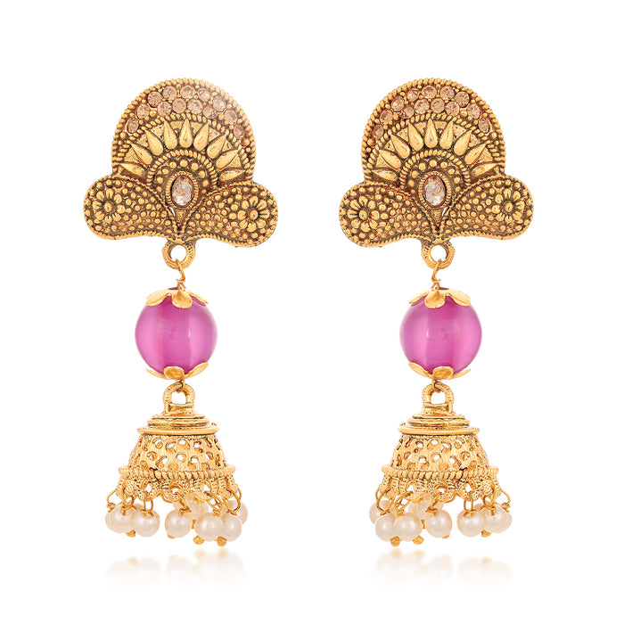 Sukkhi Ritzy Gold Plated LCT Stone Chandelier Earring for Women