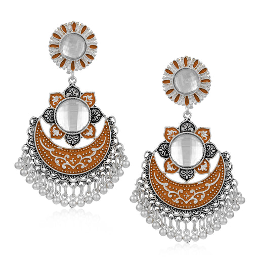 Sukkhi Classy Oxidised Chand Bali Earring for Women