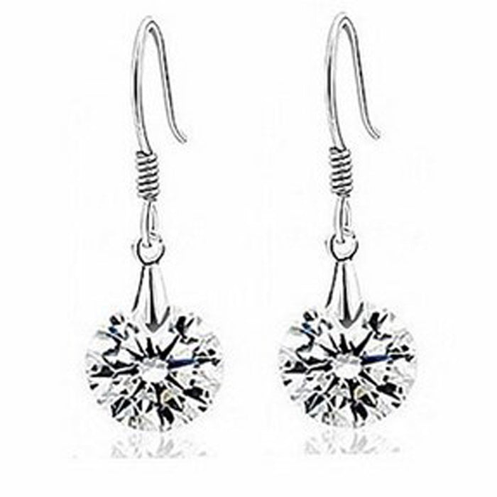 Sukkhi Resplendent Crystal Stone Rhodium Plated Earring for Women
