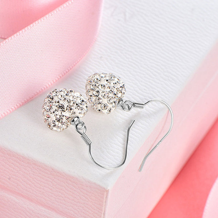 Sukkhi Graceful Valentine Heart Crystal Stone Rhodium Plated Earring for Women