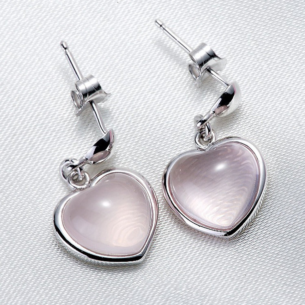 Sukkhi Cluster Valentine Heart Artificial Stone Rhodium Plated Earring for Women