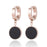 Sukkhi Adorable Black Hoop style Artificial Stone Gold Plated Earring for Women