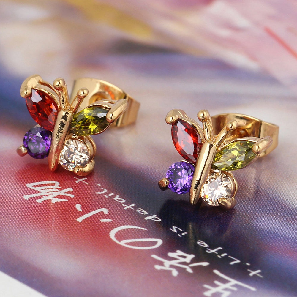 Sukkhi Astonish Butterfly Crystal Stone Multi Colour Gold Plated Earring for Women