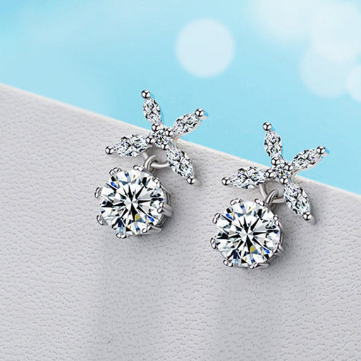 Sukkhi Glimmery Star Cubic Zirconia Rhodium Plated Earring for Women