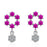 Sukkhi Designer Floral Pink Australian Diamond Rhodium Plated Earring for Women