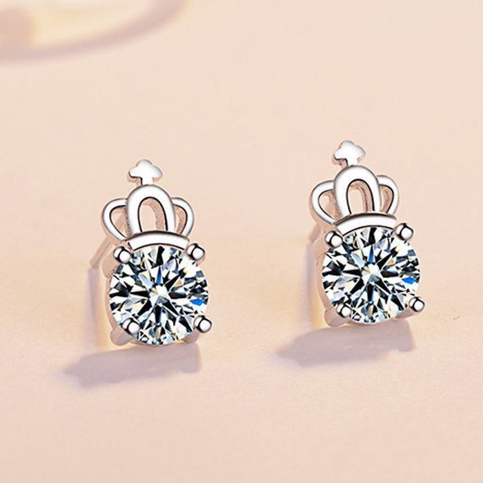 Sukkhi Exclusive  Crown Crystal Rhodium Plated Earring for Women