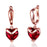 Sukkhi Exquisite Valentine Heart Crystal Gold Plated Earring for Women
