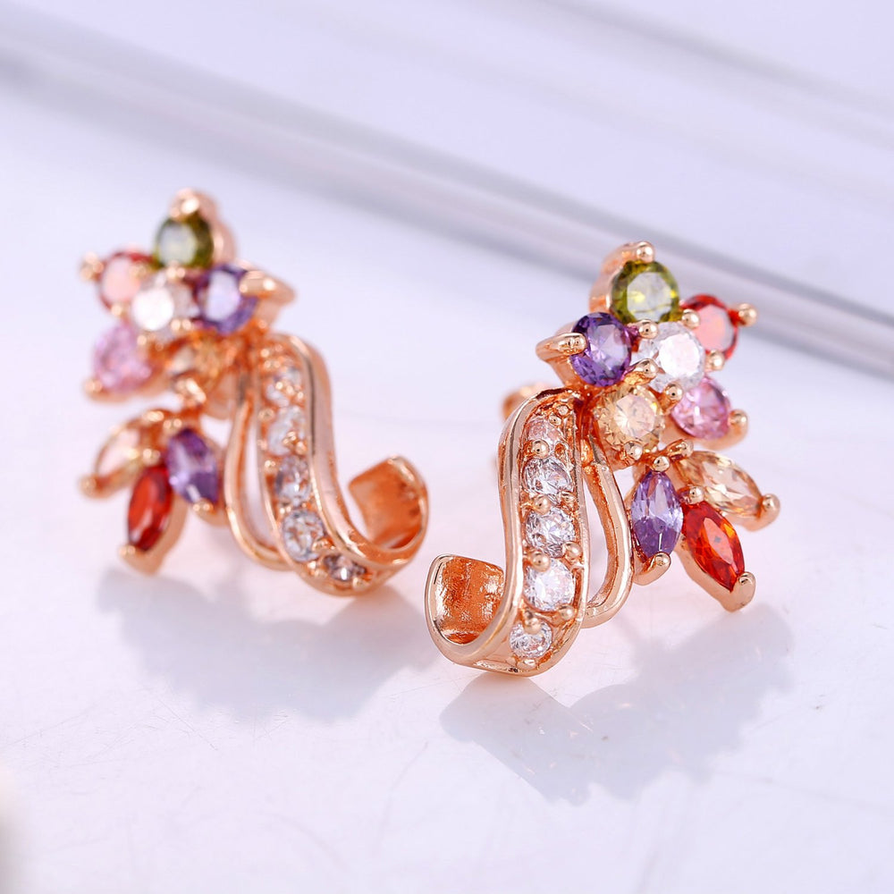 Sukkhi Exclusive Crystal Gold Plated Multi Colour Earring for Women